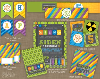 PRINTABLE Science Party Decoration Kit