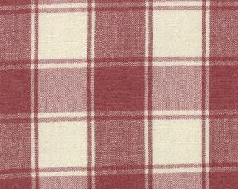 French General Fabric ~ Moda Fabrics ~ Panier De Fleur Woven Scarlet ~ Woven Red Plaids ~ Quilt Fabric ~ Apparel Fabric ~ Home Decor Fabric