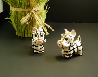 Zebra Mini Figurines - set of 2