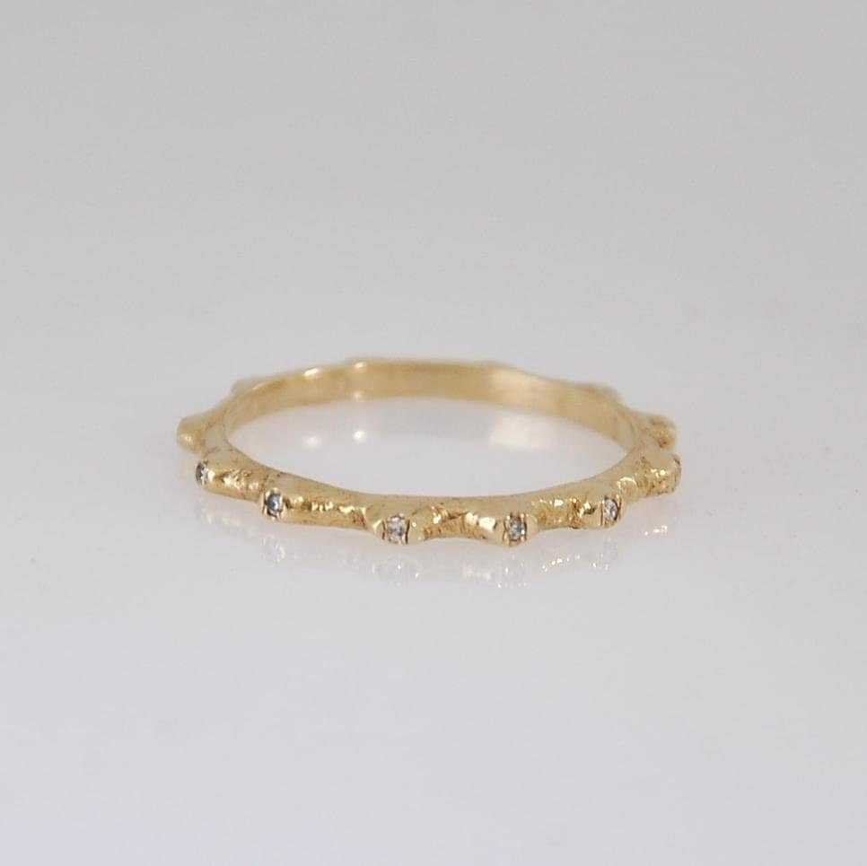 Thin Diamond Band Eternity Ring Thin Engagement Ring