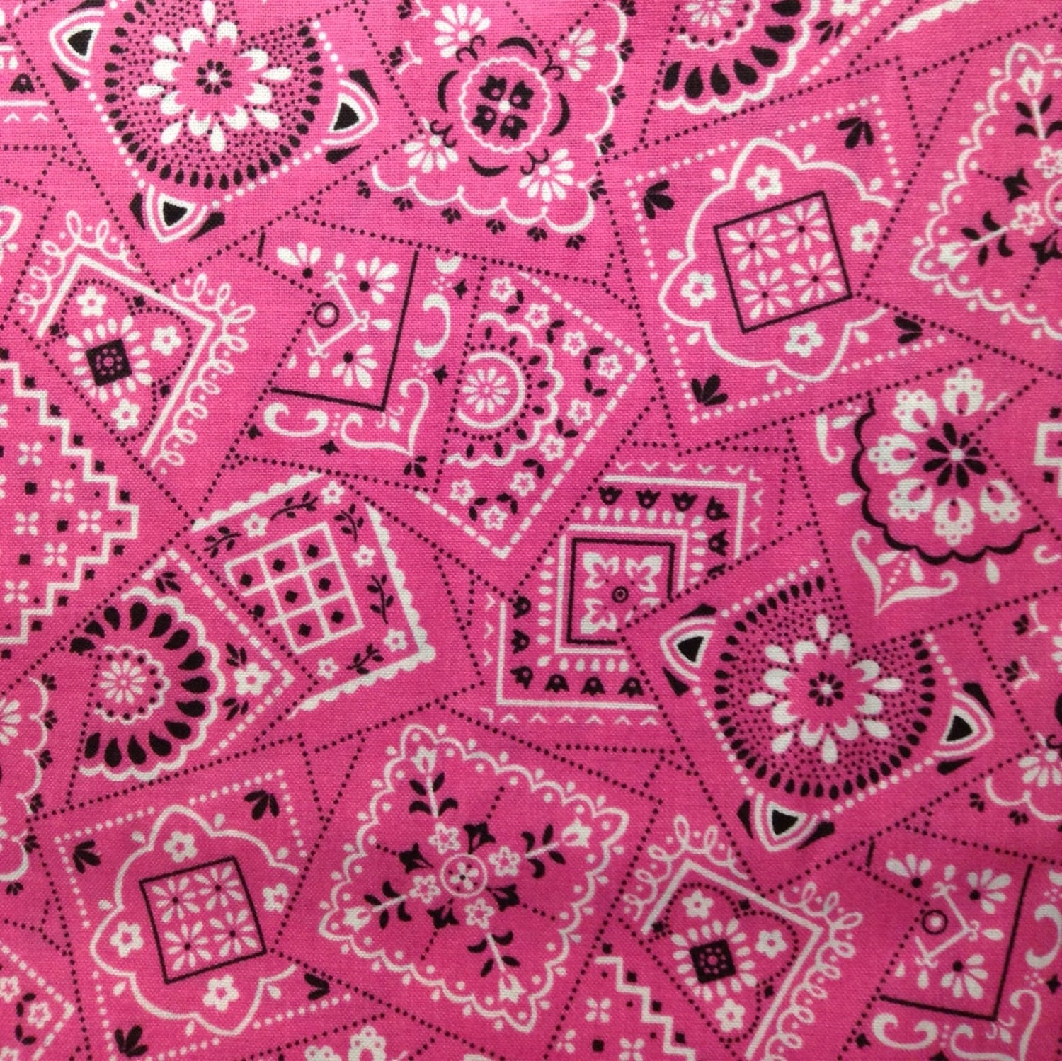 One Half Yard of Fabric Material Hot Pink by CraftingFabric