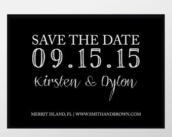 Modern Photo Save the Date Cards, Save-the-Date Announcements - Wedding Save the Dates - Roskrift Typography