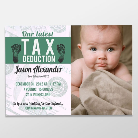 Funny Boy or Girl Birth Announcement Custom Digital Baby – Birth Announcement Funny