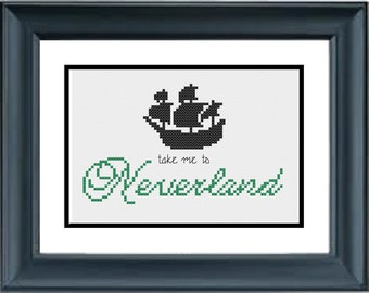 Take Me to Neverland - Peter Pan - Disney - PDF Cross-Stitch Pattern