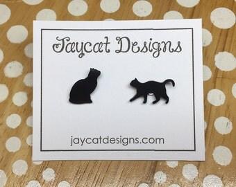 Small Cat Pins, Cat Tie Tack, Cat Lapel Pin, Cat Brooch