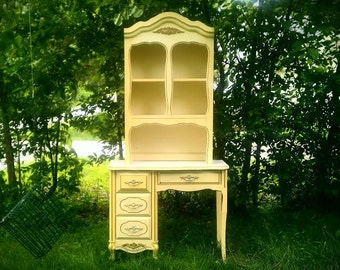 Vintage Secretary/Desk with Hutch, French Country Home Decor, Pick Up Only!!!