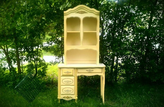 S A L E Vintage Secretary/Desk With Hutch French Country
