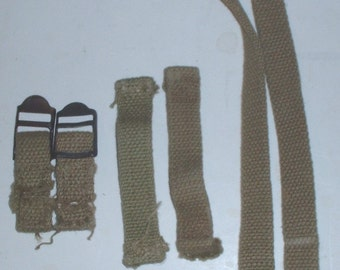 US Army M-1928 haversack straps, OD sun-faded (?)