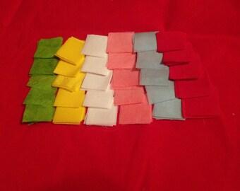 Kanzashi DIY precut silk habotai squares Two inch
