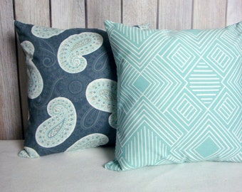 Steel Blue Throw Pillows : Steel blue pillow Etsy