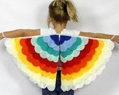 The Bird Wings - Rainbow -  Handmade Children's Costume