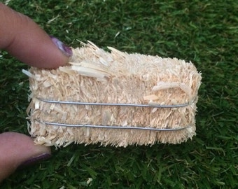 Miniature Fairy Garden Natural Straw Hay Bale doll house