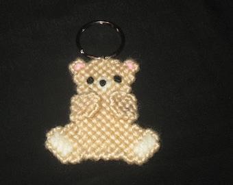 Plastic Canvas Teddy Bear Key Ring
