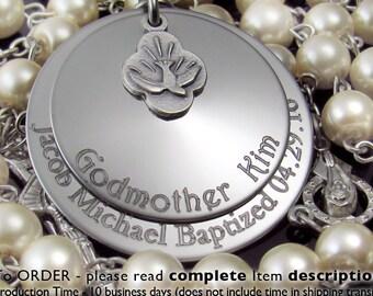Baptism Gift, Custom Personalized Baptism Gift Boy, Godparents Baptism Gift, Custom Rosary