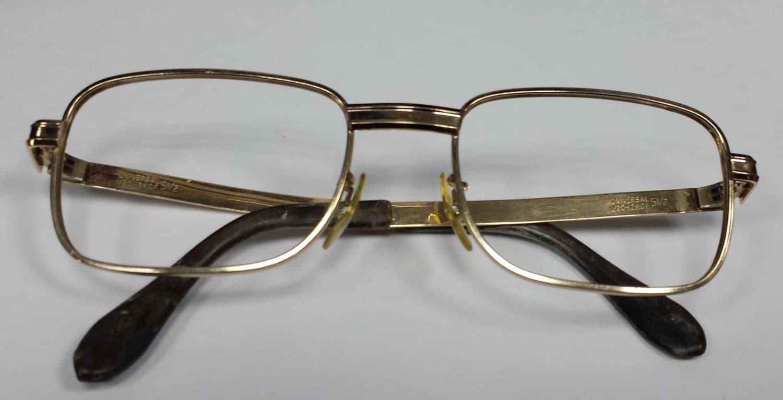 Vintage White Gold Oxford Pince Nez Glasses Eyeglasses