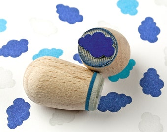 Cloud cobalt blue (dark) - mini stamp Ø 1,4 cm