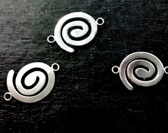 Silver Pair Coil Approx. 15x22mm