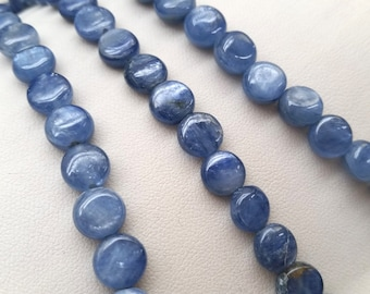 Kyanite Coin Shape Beads Approx.  8mm