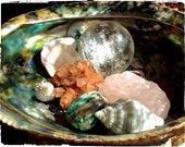 Sea Shell  Zen Garden & Sacred Crystals Lovingly Set with Sacred Intention to Empower, Bless, Transform and Heal