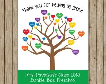 Gift for Teacher- preschool- kindergarten- can customize everything! 8x10 digital download