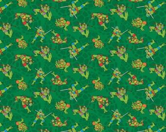 Teenage Mutant Ninja Turtles Fabric TMNT Fabric Nickelodeon Fabric Mutated in 1984 Fabric From Springs Creative