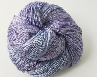 Hand-dyed SILK ALPACAROYAL LACE in Lavender
