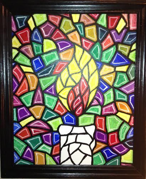 Candle acrylic painting by robertnoahperry on etsy for Can you paint candles with acrylic paint