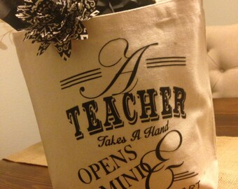 Personalized Teacher Appreciation Canvas Tote - Simply Handcrafted