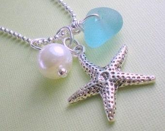 Seaglass Jewelry Starfish Beach Necklace