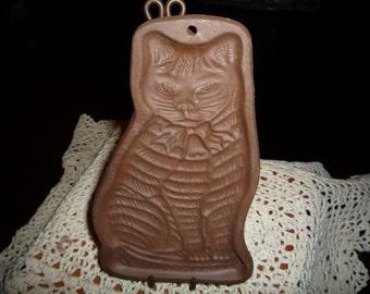 Kitten Pottery Clay Cookie Mold
