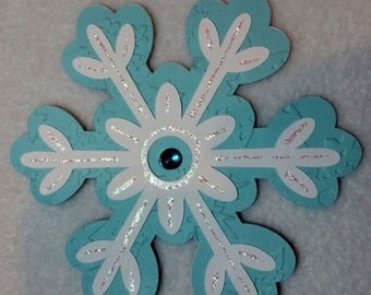 Snowflake Shaped Handmade Greeting Card