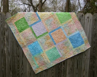 Pastel Baby Quilt for Boy or Girl