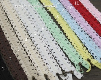10pcs 30cm dress zippers nylon coil zipper closed end zipper all purpose for purse tote clutch coin bag dress clothes making