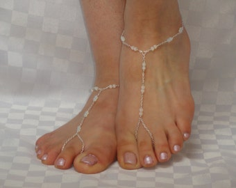 Silver moonstone barefoot sandals, Moonstone barefoot sandals, Bridal barefoot sandals, Barefoot sandals, Bridesmaids sandals