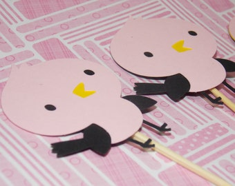 Baby Bird Cupcake Toppers