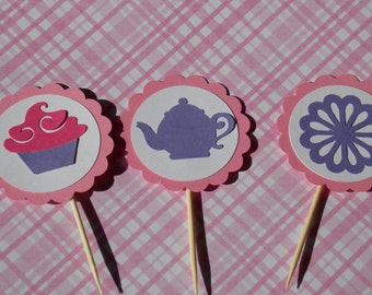 Teaparty Cupcake Toppers