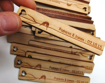 50 - .5 x 3 Custom Wood Tags - Gift Tags - Wedding Tags