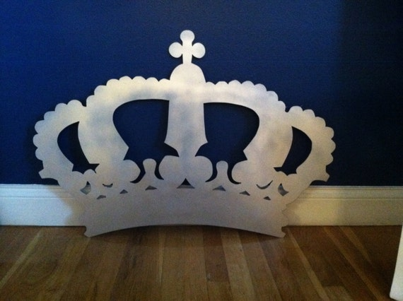 Metal Wall Crown Decor : Extra large king queen crown metal cut out wall by