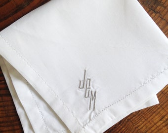 Monogram Handkerchief / Groomsmen Gift / Mens Gift / Pocket Square