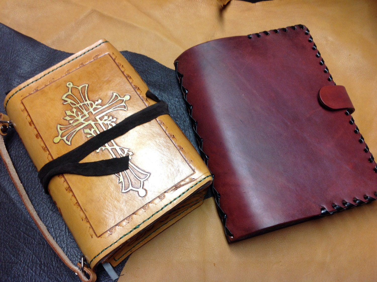 handmade leather bible covers handmade custom leather bible cover by draconicatleather 1141