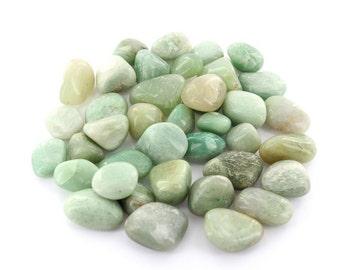 Green Aventurine Tumbled Stones (1Pound)