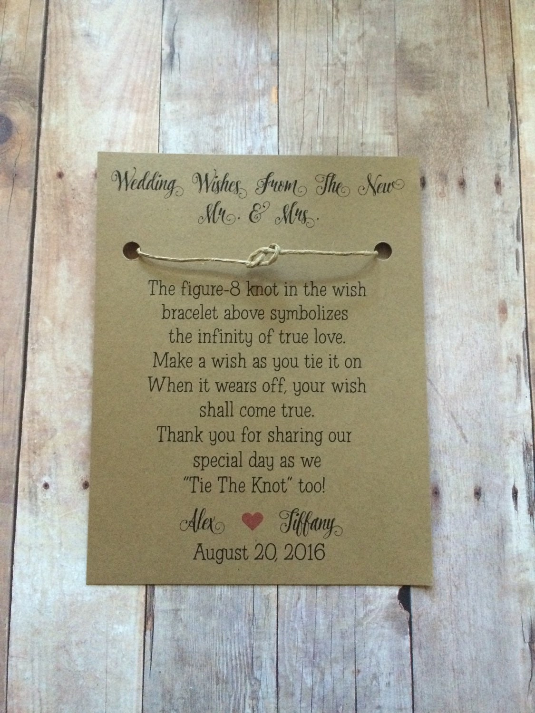 Wedding WISH Bracelet Favors