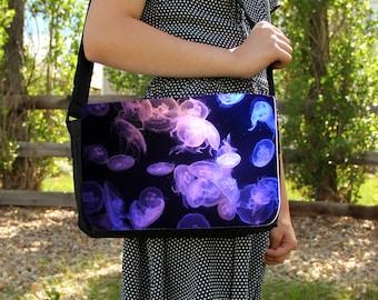 Purple Moon Jellyfish Medium Messenger / Shoulder Bag
