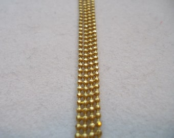 Gold Faceted Brass Ball Chain 1.5mm