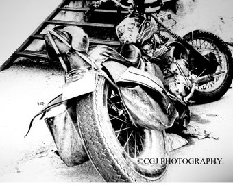 Motorcyle Photography, Black and White Photography, photography wall art, home decor