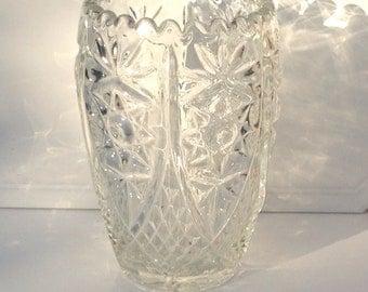 Beautiful Vintage Bohemian Cut Crystal Vase