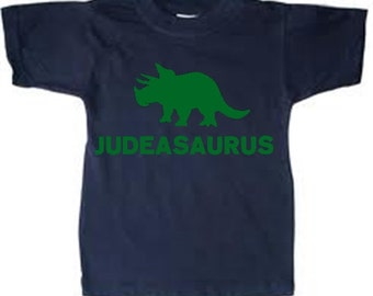 Dinosaur Personalized Kid's t-shirt tee shirt t shirt with any name - many colors and sizes great for any dino lover or birthday theme