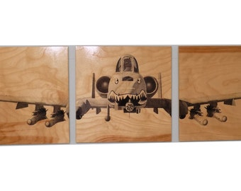 Vintage Airplane Wall Art vintage ww2 airplane / transportation art airplane propellor