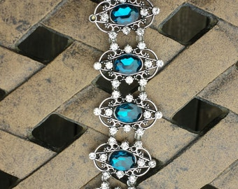 Sapphire Crystal Toggle Bracelet