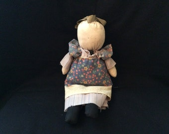 Vintage Handmade Cloth Doll